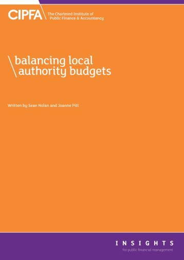balancing local authority budgets