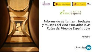 y museos del vino asociados a las Rutas del Vino de España 2015