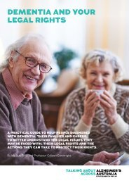 DEMENTIA AND YOUR LEGAL RIGHTS