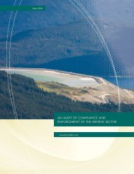 ENFORCEMENT OF THE MINING SECTOR