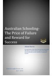 Australian Schooling- The Price of Failure and Reward for Success