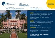 SPRING 2016 COMPLIANCE CONFERENCE