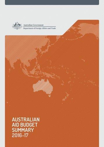 AID BUDGET SUMMARY 2016–17