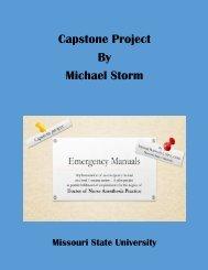 Capstone Project - Emergency Manuals