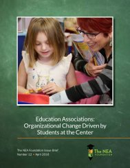 Education Associations Organizational Change Driven by Students at the Center