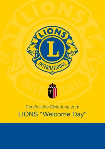 """LIONS """"Welcome Day"""""""