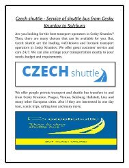 Czech shuttle - Service of shuttle bus from Cesky Krumlov to Salzburg