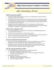 Mga Impormasyon Tungkol sa Gamot - Asian Community AIDS ...
