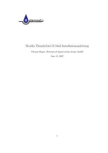 thunderbird_de - Waterproof digital media design GmbH
