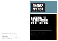 CANDIDATES FOR THE BEDFORDSHIRE POLICE FORCE AREA