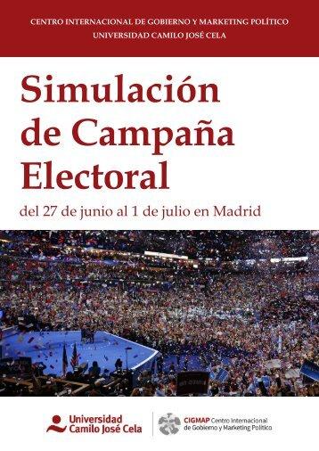 Simulación de Campaña Electoral  2016  CIGMAP UCJC