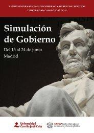 Simulación de Gobierno 2016 CIGMAP UCJC