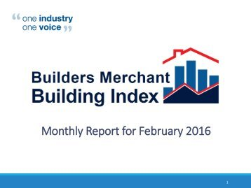 Monthly Report for February 2016
