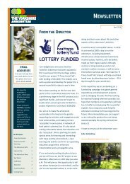 Yorkshire Arboretum Newsletter - Issue 7 - April 2016