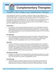 Complementary Therapies - Asian Community AIDS Services