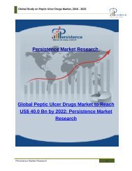 Global Study on Peptic Ulcer Drugs Market, 2016 - 2022
