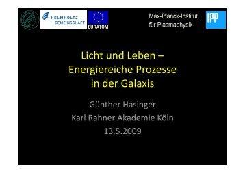HST (sichtbar) VLT (JHK) Chandra - Max-Planck-Institut für ...