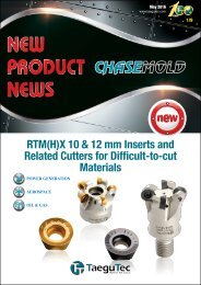 RTM(H)X 10 & 12 mm Inserts and Related Cutters for Difficult-to-cut Materials