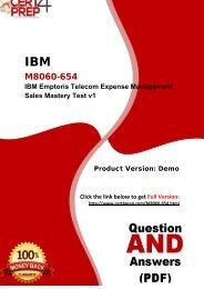 Cert4Prep M8060-654 Test Practice Questions