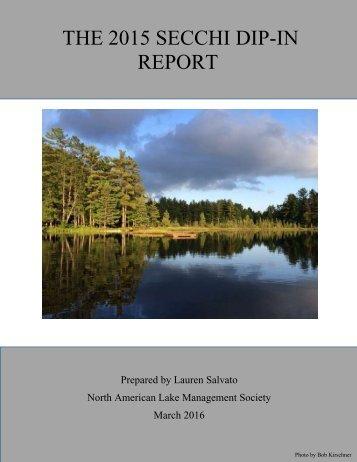 THE 2015 SECCHI DIP-IN REPORT