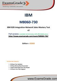 ExamsGrade M8060-730 PDF Questions With Authentic Answers