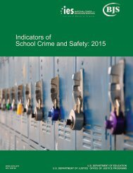 Indicators of School Crime and Safety 2015