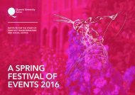 A SPRING FESTIVAL OF EVENTS 2016