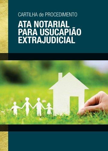 ATA NOTARIAL PARA USUCAPIÃO EXTRAJUDICIAL