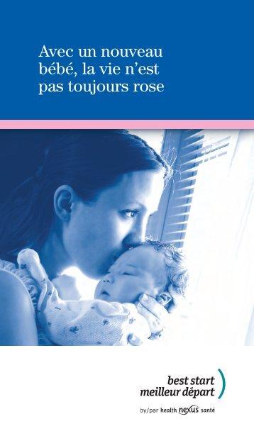 Avec un nouveau bébé la vie n'est pas toujours rose