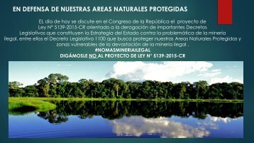 EN DEFENSA DE NUESTRAS AREAS NATURALES PROTEGIDAS