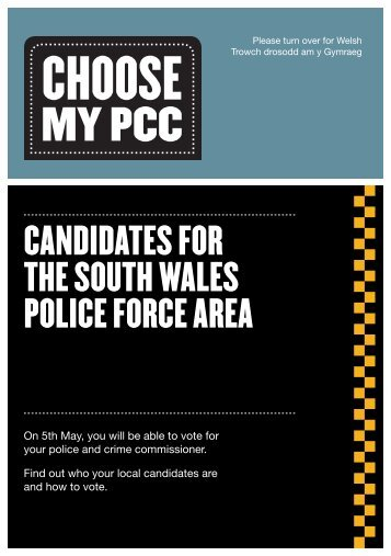 CANDIDATES FOR THE SOUTH WALES POLICE FORCE AREA
