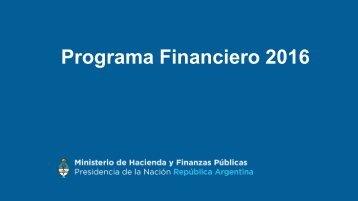 Programa Financiero 2016