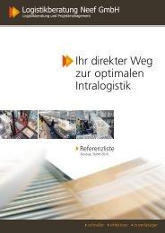 Ihr direkter Weg zur optimalen Intralogistik - Logistikberatung Neef