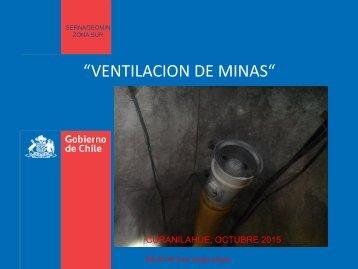 """""""VENTILACION DE MINAS"""""""