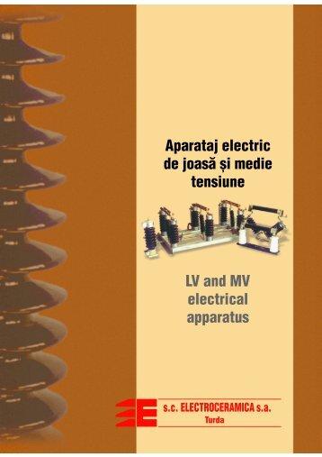 Aparataj electric de joasă ºi medie tensiune LV and ... - Energotech SA