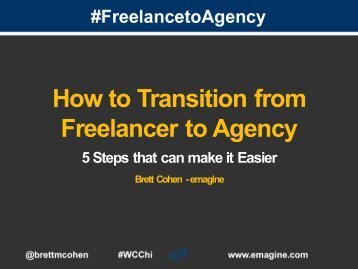 How to Transition from Freelancer to Agency