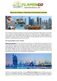 A Marvelous Dubai Structures   Dubai Tour Packages