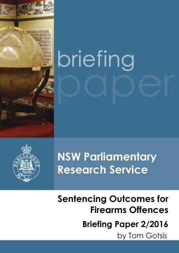 Sentencing Outcomes for Firearms Offences