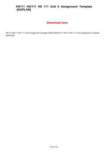 BU224 BU 224 Unit 9 Assignment (Kaplan University)