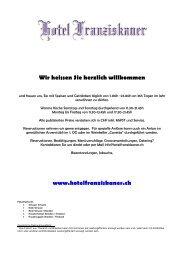 Wir heissen Sie herzlich willkommen www.hotelfranziskaner.ch