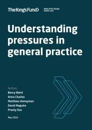 Understanding pressures in general practice