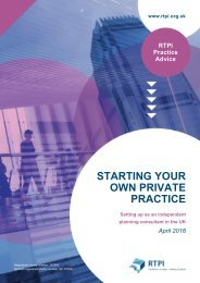 STARTING YOUR OWN PRIVATE PRACTICE