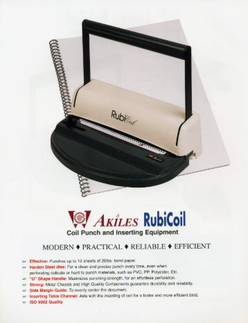 RubiCoil Akiles Coil Punch and Inserting Machine by Printfinish.com
