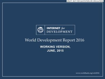 World Development Report 2016