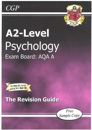 Humanities - Psychology A2