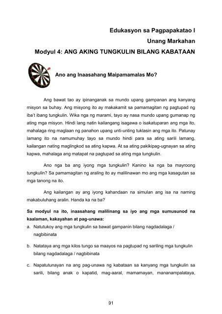 Top 12 Edukasyon Sa Pagpapakatao Grade 7 Unang Markahan