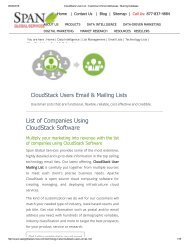Buy Prepackaged CloudStack Customer Lists from Span Global Services
