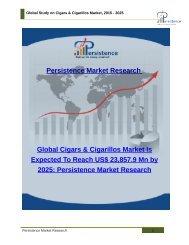 Global Study on Cigars & Cigarillos Market, 2015 - 2025