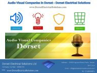 Audio Visual Companies in Dorset - Dorset Electrical Solutions