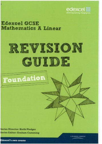 Maths Foundation Guide